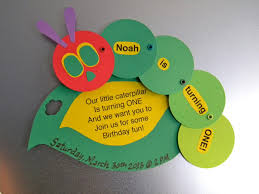 diy magnetic save the date vhc invites very hungry caterpillar