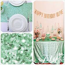 mint green 60x102 rectangle wedding table linen cloth fabric