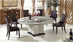 brilliant ideas round dining table with lazy susan sumptuous
