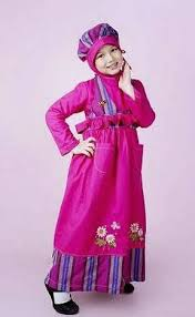 desain baju gaun anak 16 model busana muslim anak desain terbaru