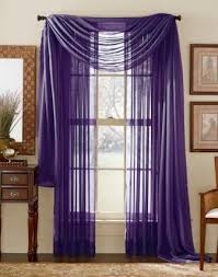 Purple Sheer Curtains Purple Sheer Voile Curtain Scarf Moshells