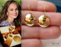 gold disc earrings gold disc earrings hammered 14k goldfilled