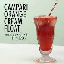 campari orange these grown up ice cream floats are dessert perfection coastal