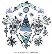 skull dice and eight ball tattoo design ratta tattoo cartoon