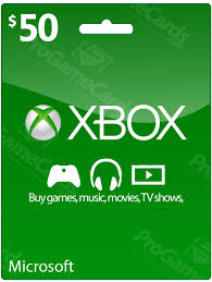 xbox cards 50 xbox live credit voucher