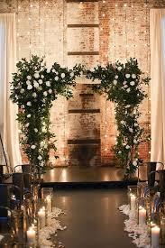 wedding arches with lights 40 stunning winter wedding lights happywedd