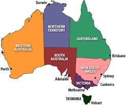 australia map capital cities map of australia and capital cities major tourist