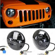 2012 jeep wrangler headlights sealed beam and play 7 45w jeep wrangler led headlight