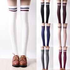 japanese students stripe knee high socks www sanrense