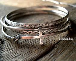 cross bangle bracelet images Silver cross bangle etsy jpg