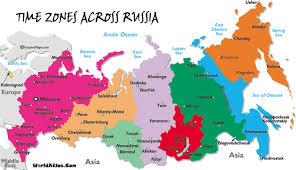 utc zone map russia zones mapp