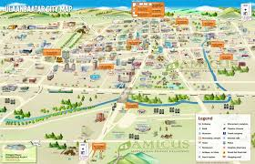 touristic map of mongolia travel map mongolia tourist map mongolia highlights