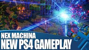 new machina nex machina ps4 gameplay new shooter from the makers of resogun