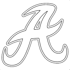 alabama a template alabama football a text outline coloring page