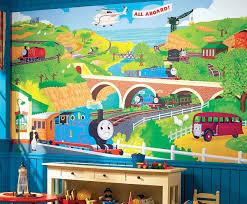 thomas the train chair rail wallpaper mural 6 u2032 x 10 5 u2032 stickers