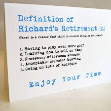 retirement card personalised definition of retirement card by sew