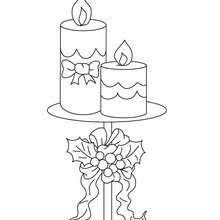 lighted candle holly coloring pages hellokids