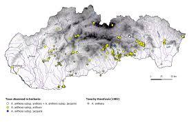 Slovakia Map Genus Aconitum In Slovakia A Phenetic Approach Modern