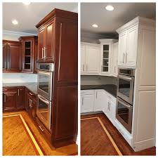 how to paint brown cabinets tips for painting cherry cabinets white dengarden