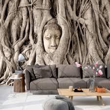 Wohnzimmer Einrichten Buddha Vlies Fototapete 350x245 Cm Tapete Wandbilder Xxl Wandbild Bild