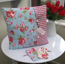 Cushions Shabby Chic by Cushion Covers Red White Blue Rosali Cath Kidston Fabric Shabby