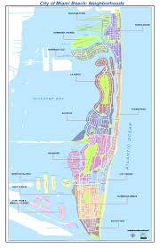 Florida City Map Neighborhoods Map City Of Miami Beach
