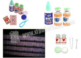 purple invisible ink and glasses level c poker contact lenses