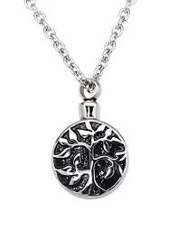 pendant for ashes tree of cremation urn jewelry necklace pendant