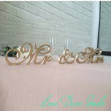 mr and mrs sign for wedding gold mr mrs sign freestanding letters top table decoration