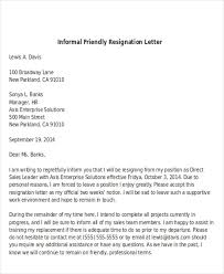 sample informal resignation letter 4 examples in pdf word