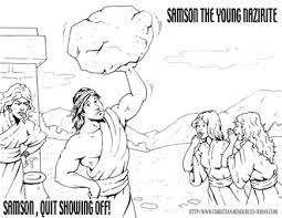 bible coloring pages samson bible story pages printable sheets