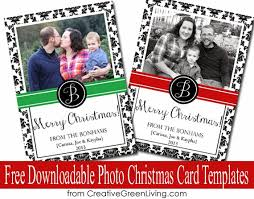 free downloadable photo christmas card templates creative green