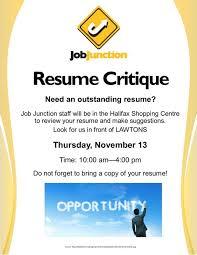 Resume Critique Jobjunction Ca U003cstrong U003ejob Junction Resume Critiques At The