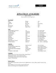Musical Theater Resume Theatrical Resume Format Templates For Th Splixioo