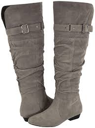 womens yoki boots yoki lenny s grey faux suede casual boots