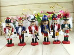 2016 new year ornaments painted wooden nutcracker