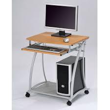 Computer Desk On Wheels Computer Desks For Small Spaces Kreyol Essence