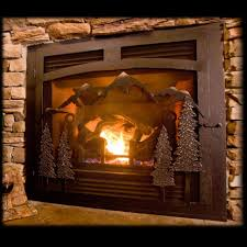 fire pit rustic fireplace screens fire pit best with doors ideas