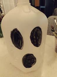 milk jug ghosts a fun family friendly craft