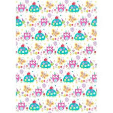wrapping paper sheets owl design children s gift wrap 2 wrapping paper sheets simon
