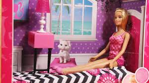 barbie doll and bedroom furniture set cfb60 md toys youtube