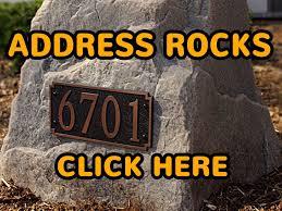 Fake Rocks For Gardens by Personalized House Address Rocks Buy Decorative Address Stones