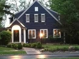 blue house white trim navy blue house exterior white trim black door and shutters