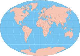 Borderless World Map by Printable Simple World Map Blank Printable Template