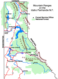 bitterroot mountains map idaho panhandle national forests alerts notices