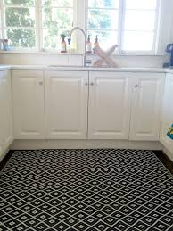 kitchen classy bed bath and black and white geometric rug in the kitchen it u0027s plastic people
