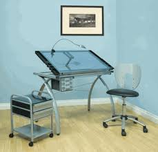 Futura Drafting Table with Futura Glass Top Table Chair U0026 Taboret By Studio Designs