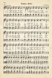 vintage christmas sheet music graphic jingle bells old design