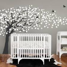 Cherry Blossom Tree Wall Decal For Nursery White Tree Wall Decal Tree Wall Decal Wall By Colorsplash4 U