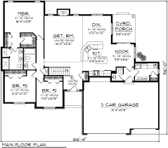 2000 sq ft floor plans 2000 square foot one level house plans home deco plans